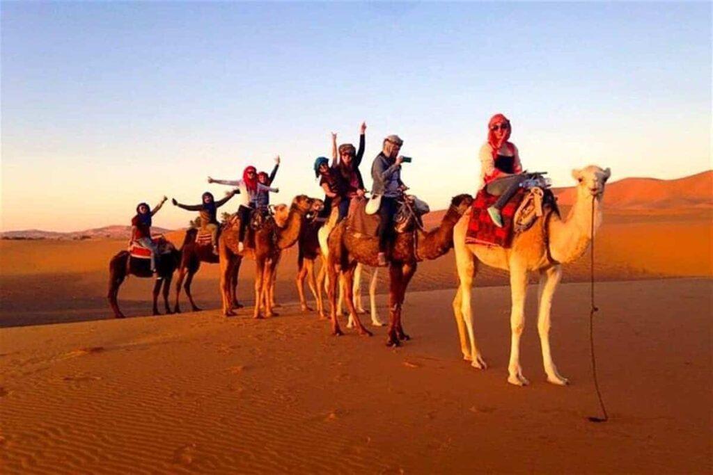 camel trek marrakechcamel trek from marrakechcamel trekking experiencecamel ride merzougamorocco camel trekking toursmorocco sahara camel tours 1024x683 - Guide Morocco Tours | Morocco Guided Tour