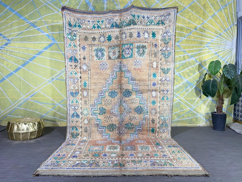 Moroccan Multicolored Berber Rug 5.6ft x 10.4ft - Shortcode other